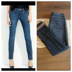 J Crew Matchstick straight leg dark wash jeans